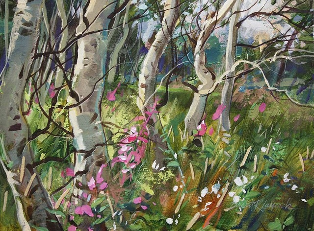 , 'Party Under the Aspens,' 2017, Wallace Galleries