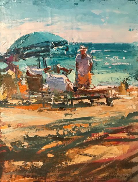 , 'Beachside Chat,' 2019, Gildea Gallery