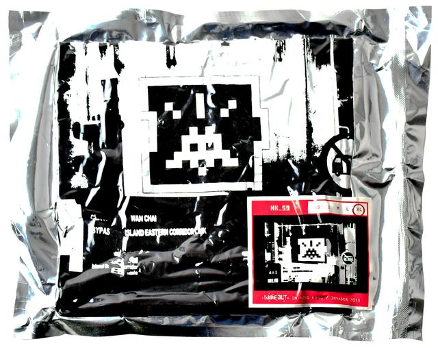 Invader, 'HK_59 (Black Extra Large T-shirt)', 2015, Silverback Gallery