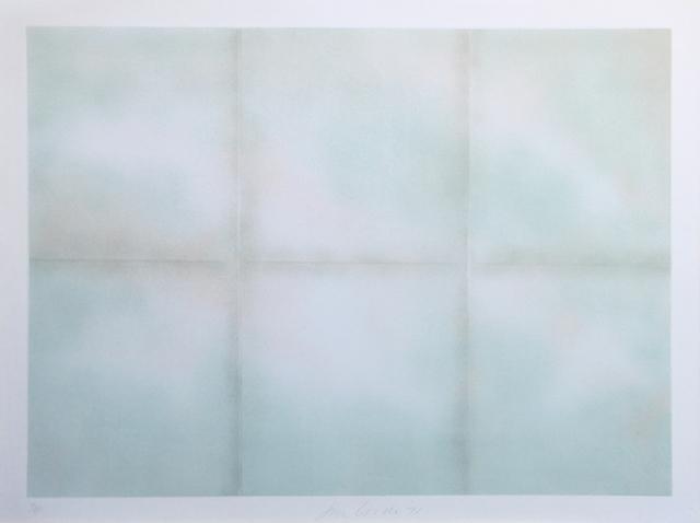 Joe Goode, 'Blue folded clouds', 1971, Hans den Hollander Prints