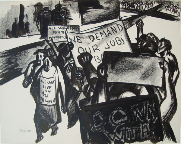 , '[We Demand Our Jobs],' 1933, Childs Gallery