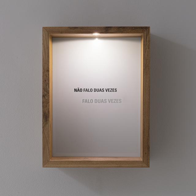 , 'Não falo duas vezes,' 2018, Carbono Galeria