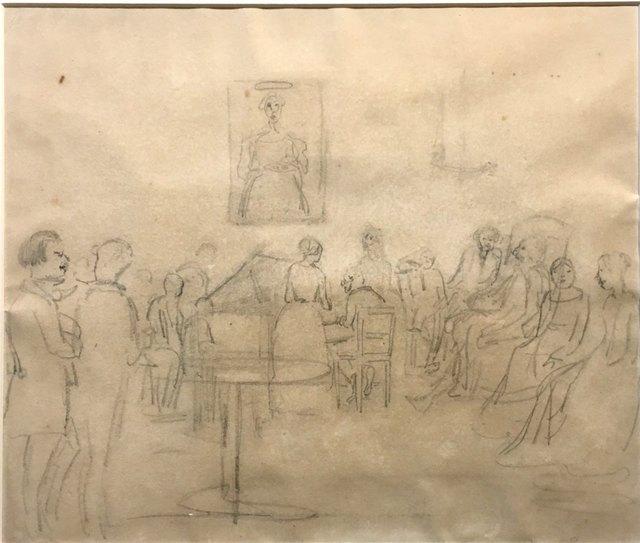 Camille Pissarro, 'Velada musical en Caracas (drawing in ', Odalys