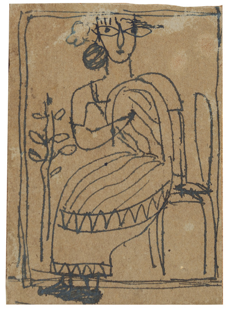 , 'UNTITLED	(Seated Woman),' ca. 1940, Prinseps