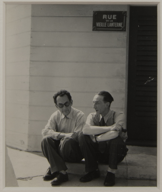 , 'Duchamp and Man Ray Seated on a Curb,' 1948, Francis M. Naumann Fine Art