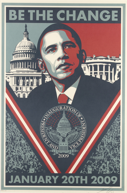 Shepard Fairey, 'Be the Change', 2009, Wallector