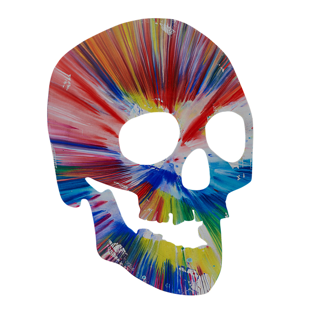 Damien Hirst, 'Skull Spin Painting (Created at Damien Hirst Spin Workshop)', 2009, Rago