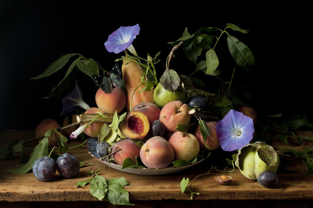 , 'Peaches and Morning Glories, After G.G.,' 2010, Snite Museum of Art