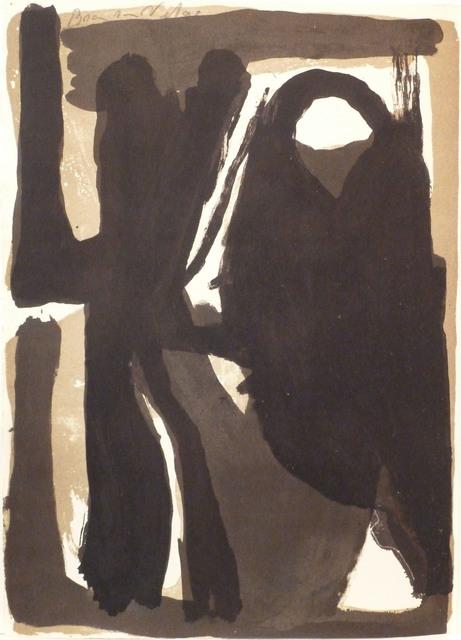 Bram van Velde, ' L'unique planche 3', 1973, Le Coin des Arts