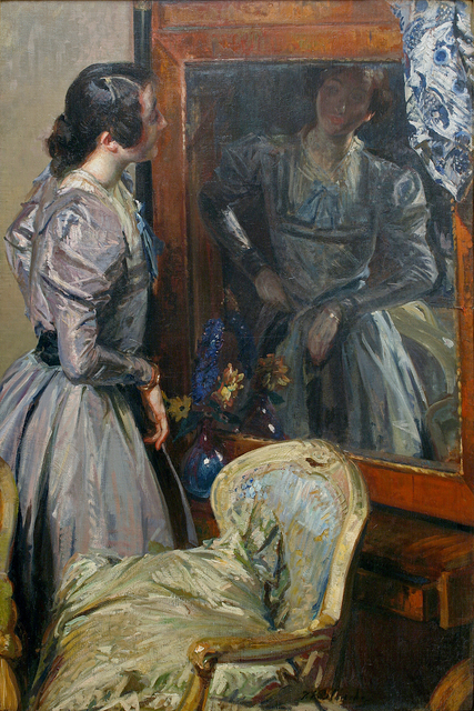 Jacques-Émile Blanche, 'In the Mirror (Désirée Manfred or Bérénice)', 1904, Guarisco Gallery
