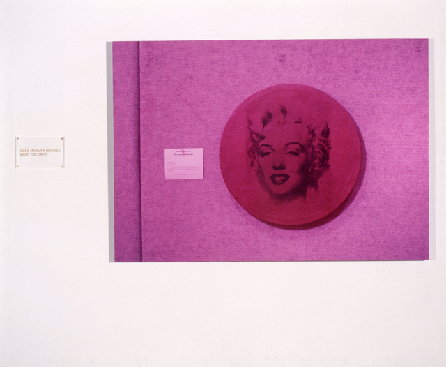 , 'Warhol/Marilyn (Does Marilyn make you cry?),' 1989, Galerie Isabella Czarnowska