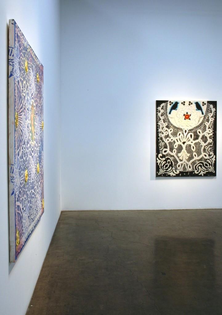 """Installation view of Robert Rahway Zakanitch, """"From Ordinary Miracles,"""" at Samuel Freeman, May 2010."""