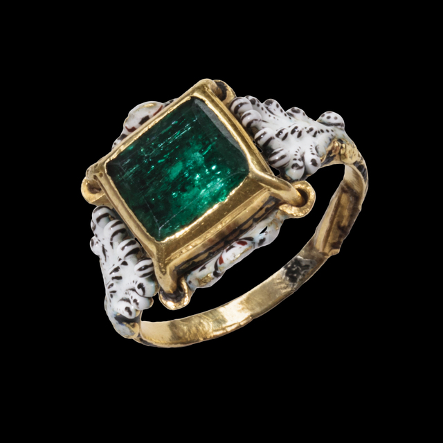 , 'Emerald and Enamel Solitaire Ring,' c. 1680-1720, Les Enluminures