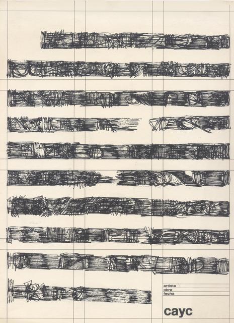 , 'Sin título (Página),' ca. 1974, Henrique Faria | Buenos Aires