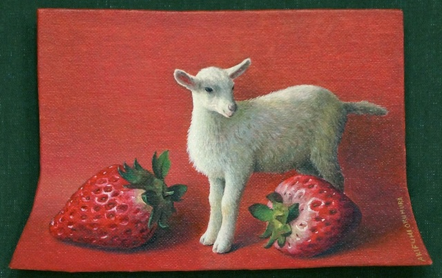, 'Goat On Red,' 2017, SEIZAN Gallery