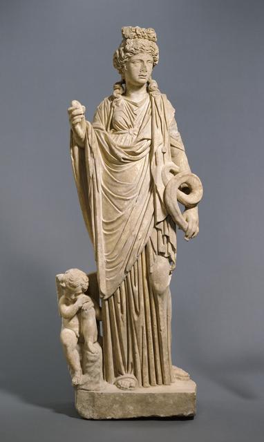 'Statue of Aphrodite - Hygieia with Eros', 200 -250, J. Paul Getty Museum
