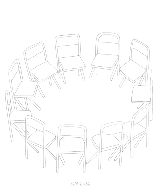 , 'Untitled (Chairs in a Circle),' 2016, V1 Gallery