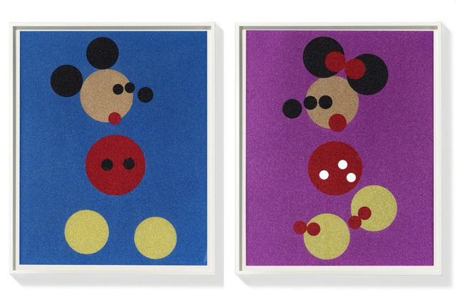 Damien Hirst, 'Micky and Minnie glitter spot print ', 2016, The Drang Gallery
