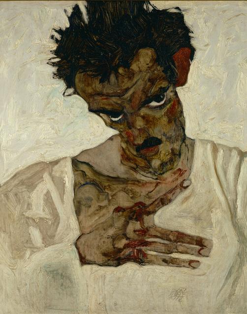 Egon Schiele, 'Self-Portrait with Bent Head (Study for Eremiten/Hermits)', 1912, Erich Lessing Culture and Fine Arts Archive