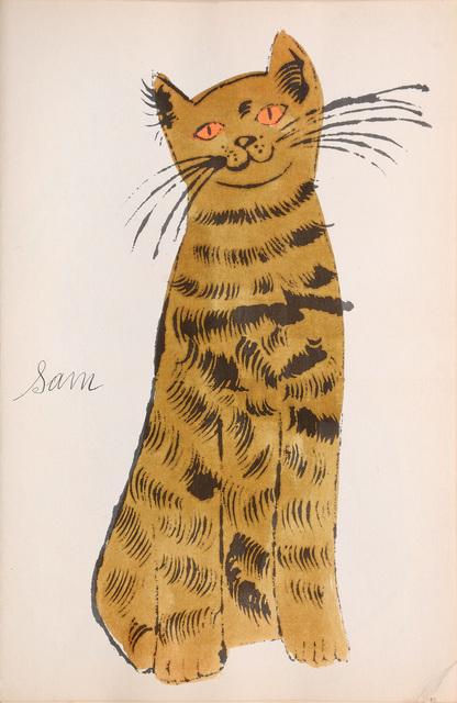 Andy Warhol, 'Sam. [Sitting ochre cat with orange eyes.]', 1954, Peter Harrington Gallery