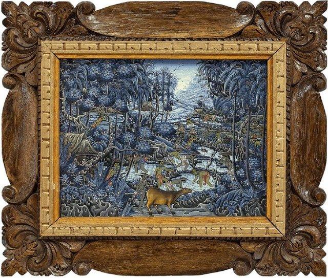 "Iny Suwija, '""Ubud, Bali"" Signed Indonesian Artist', 1990-1999, Painting, Acrylic on Canvas, Lions Gallery"