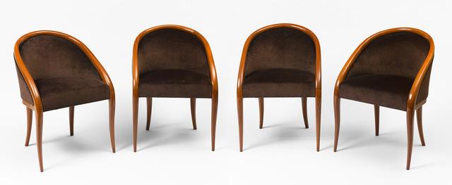 "Jean Royère, 'Set of 4 ""crapaud"" bridge armchairs', ca. 1936, Galerie Jacques Lacoste"