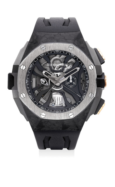 Audemars Piguet, 'An extremely fine and rare ceramic, carbon, titanium and pink gold flyback laptimer chronograph wristwatch, numbered 24 of a limited edition of 221 pieces', Circa 2015, Phillips