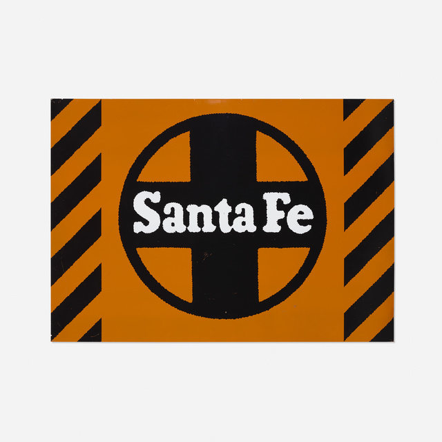 Robert Cottingham, 'Santa Fe, Unique Panel from the Union Train Station Installation in Hartford, Conn.', 1987, Painting, Enamel on aluminum panel, David Lawrence Gallery