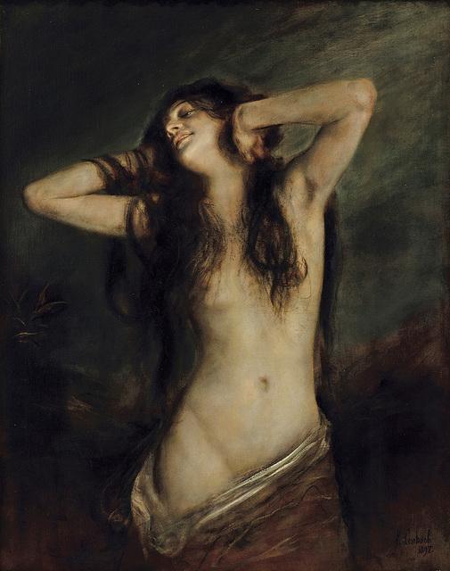 Franz Seraph von Lenbach, 'Voluptas', 1897, Painting, Oil on canvas, Frye Art Museum