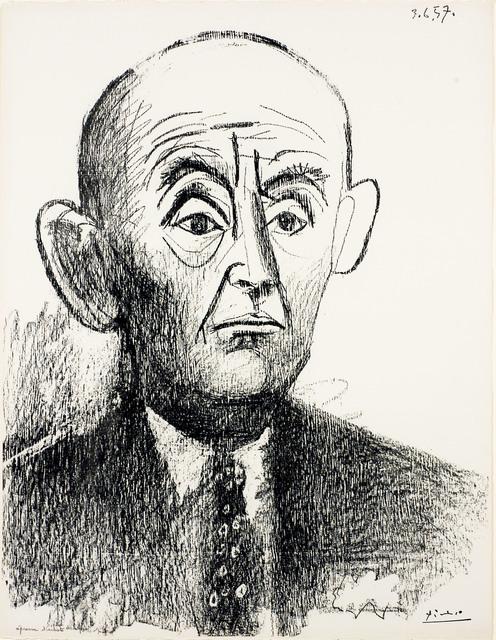 , 'Portrait de D. H. Kahnweiler I,' 1957, Thomas French Fine Art