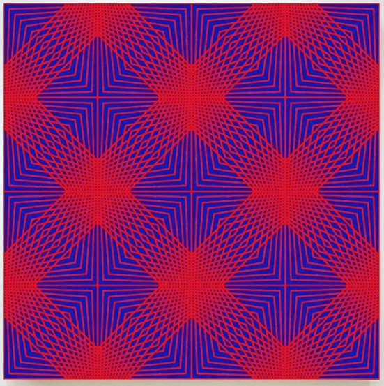 John Zoller, 'John Zoller, Blue Red Radial Compression', 2018, Oliver Cole Gallery