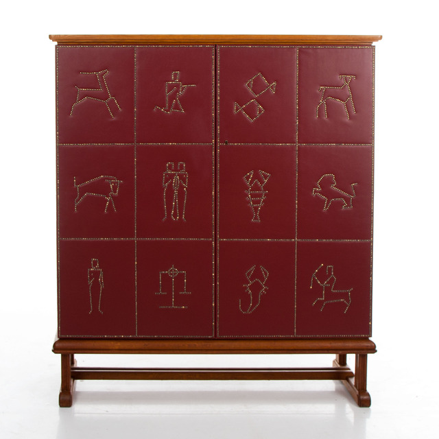 , 'Zodiac Cabinet,' ca. 1950, Hostler Burrows