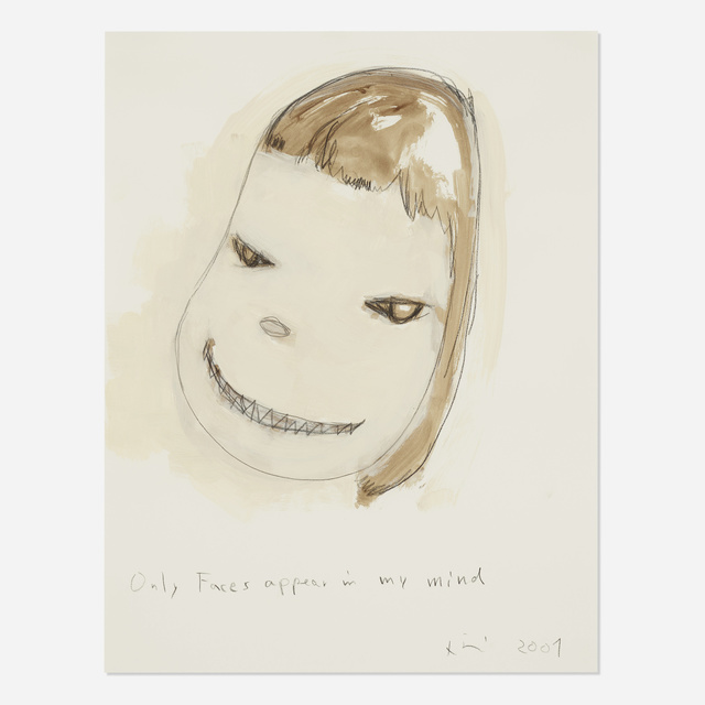 Yoshitomo Nara, 'Only Faces Appear in My Mind', 2001, Wright