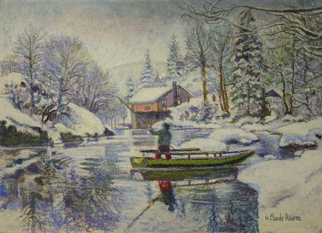 , 'Neige aux Bords du Doubs, La Barque Jura Neuchâtelois en Hiver,' , Russell Collection