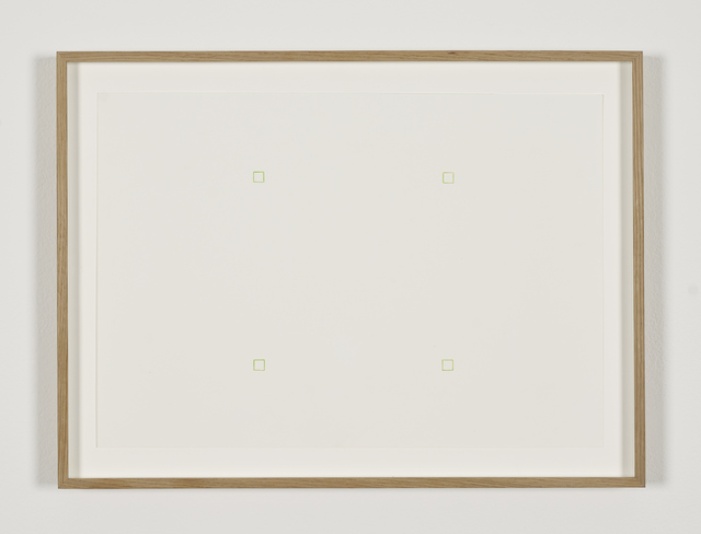 , 'Untitled (4 outlined green squares),' 1967, Galerie Greta Meert
