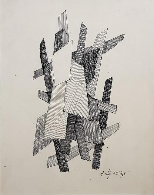 , 'Composition abstraite,' 1958, Galerie Marie-Robin