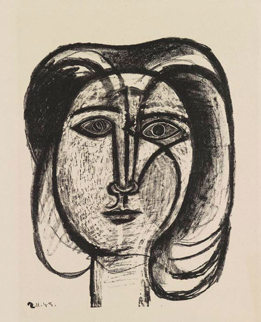 Pablo Picasso, 'Tete de Femme ', 1945, Print, Lithograph, one of 18 artist proofs aside from edition of 50,  Olsen Irwin