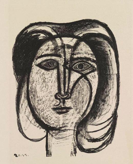 , 'Tete de Femme ,' 1945, Olsen Irwin