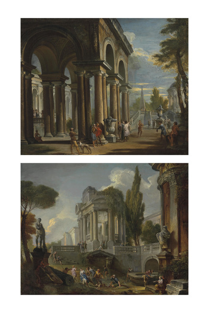 , 'Capriccio of a classical loggia; and Capriccio of palaces with giochi d'acqua,' , Christie's Old Masters