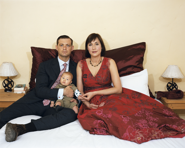 Pieter Hugo, 'André Hugo and Martje Potgieter with their firstborn, Leon Hugo, on the day of their wedding, Yzerfontein', 2009, Photography, C-Print, Stevenson