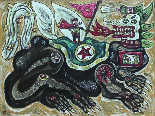 , 'The Giant Lion and a Little Man,' 2016, Mizuma Art Gallery
