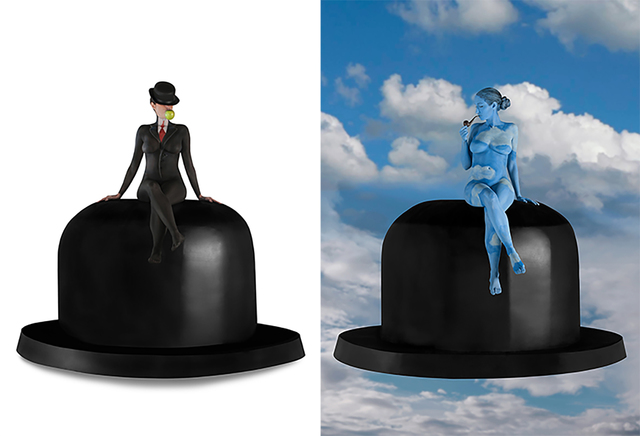 , 'Hommage a Magritte - Dyptich,' 2013, Contempop Gallery