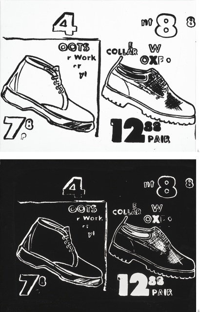 Andy Warhol, 'i. Work Boots (Positive); ii. Work Boots (Negative) [Two Works]', circa 1985-1986, Sotheby's