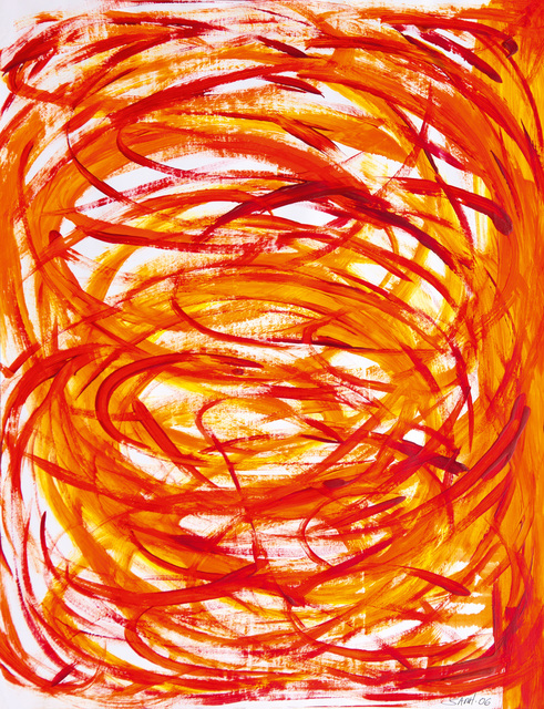 , 'Language in Orange and Red,' 2006, Galerie AM PARK