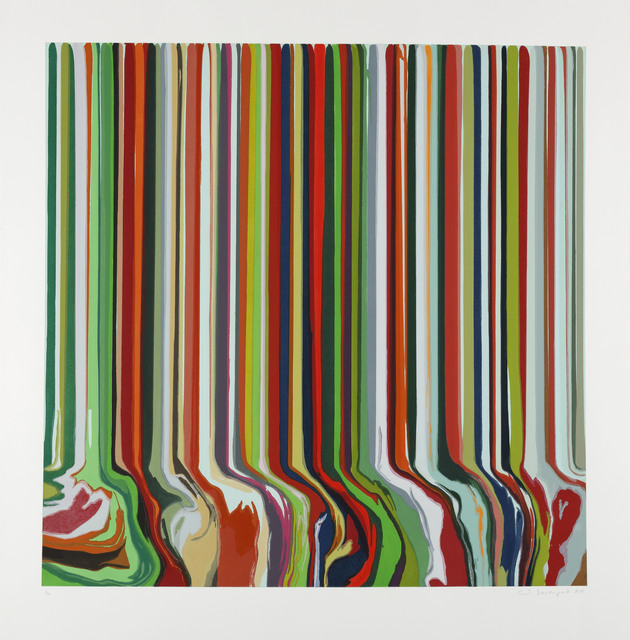 Ian Davenport, 'Spring', 2019, Print, From a series of four etchings with chine collé on Hahnemühle Bright White 350 gsm paper, Cristea Roberts Gallery