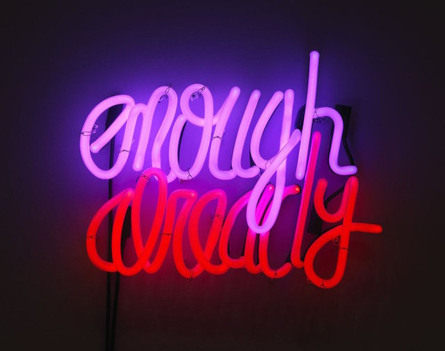 Deborah Kass, 'Enough Already', 2012, Other, Neon and transformers, Planned Parenthood of New York City Benefit Auction