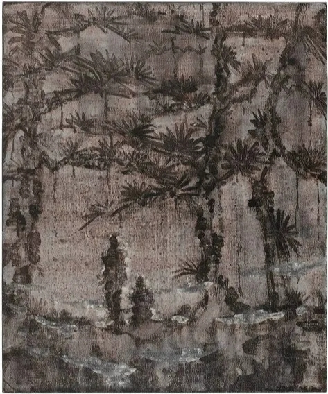 Wang Yabin, 'Pavillion of Memories-Falling Pine in the Mountain', 2012, Painting, Mixed media on canvas, Aye Gallery