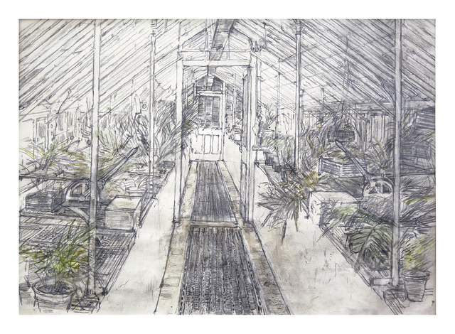 , 'Glasshouse in West Dean Gardens,' 2016, Royal Academy of Arts