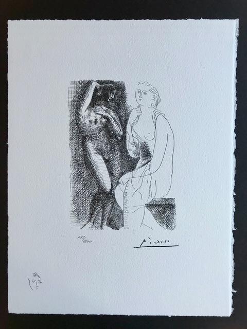 Pablo Picasso, 'Femme nue devant une sculpture (Suite Vollard Planche VI)', 1973, ByNewArt