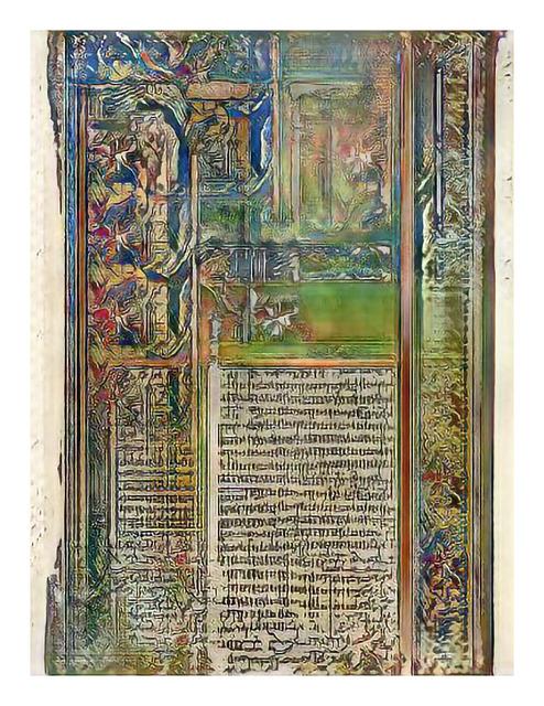 , 'Narrative Frame (Illuminated Manuscripts 2),' 2019, Mark Moore Fine Art
